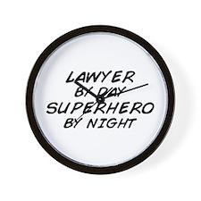 Lawyer Day Superhero Night Wall Clock