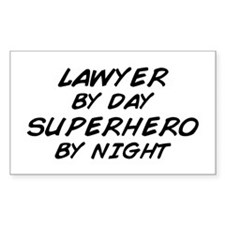 Lawyer Day Superhero Night Rectangle Decal