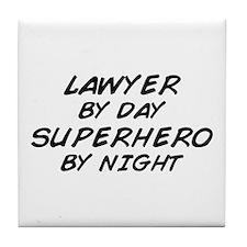 Lawyer Day Superhero Night Tile Coaster
