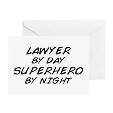 Lawyer Day Superhero Night Greeting Cards (Pk of 1