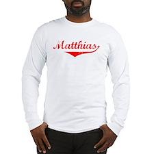 Matthias Vintage (Red) Long Sleeve T-Shirt