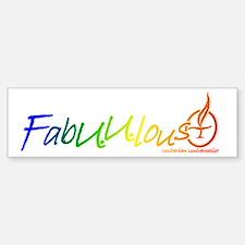 """""""FabUUlous"""" Bumper Bumper Bumper Sticker"""