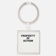 Property of ALYSON Keychains