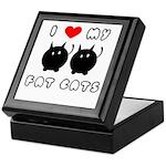 I Love My Fat Cats Keepsake Box