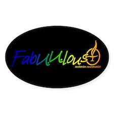 """FabUUlous"" Oval Decal"