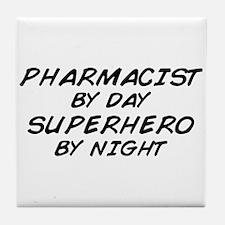 Pharmacist Day Superhero Night Tile Coaster