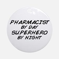 Pharmacist Day Superhero Night Ornament (Round)