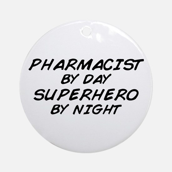Pharmacist Day Superhero Night Ornament (Round)