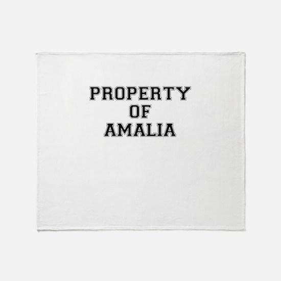 Property of AMALIA Throw Blanket