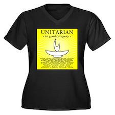 """Unitarian In Good Company"" V-Neck Tee (Plus)"