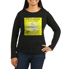 """Unitarian In Good Company"" Womens Long Sleeve Tee"