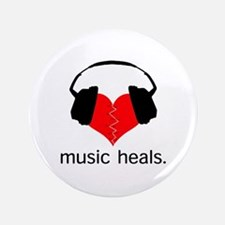 "music heals 3.5"" Button"