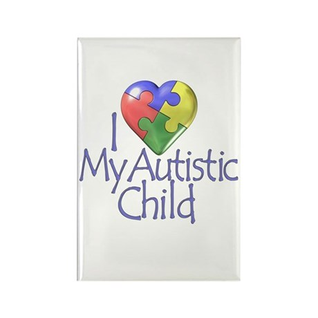 My Autistic Child Rectangle Magnet (100 pack)