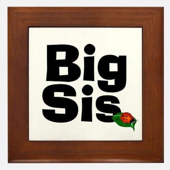 Big Sister Ladybug Framed Tile