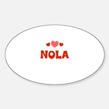 Nola Oval Decal