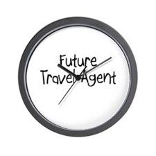 Future Travel Agent Wall Clock