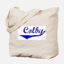 Colby Vintage (Blue) Tote Bag