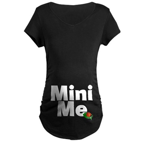 Mini Me Ladybug Maternity Dark T-Shirt