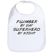 Plumber Day Superhero Night Bib