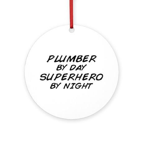 Plumber Day Superhero Night Ornament (Round)