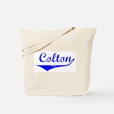 Colton Vintage (Blue) Tote Bag