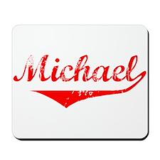 Michael Vintage (Red) Mousepad
