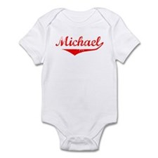 Michael Vintage (Red) Infant Bodysuit
