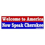 Now Speak Cherokee Bumper Sticker