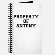 Property of ANTONY Journal