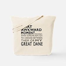 Awkward Great Dane Dog Designs Tote Bag