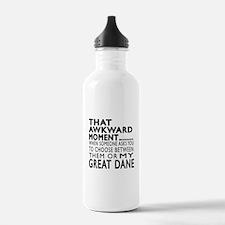Awkward Great Dane Dog Water Bottle