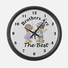 Brothers Are The Best Large Wall Clock
