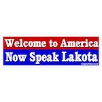 Now Speak Lakota Bumper Sticker