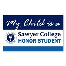 My Child is.. Sawyer College Rectangle Decal