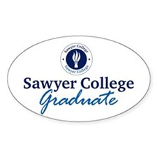 Sawyer College Graduate Oval Decal