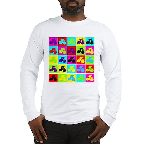 Pop Art Cyclist Long Sleeve T-Shirt