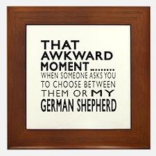 Awkward German Shepherd Dog Designs Framed Tile