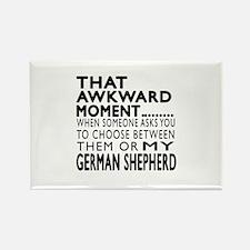 Awkward German Shepherd Dog Desig Rectangle Magnet
