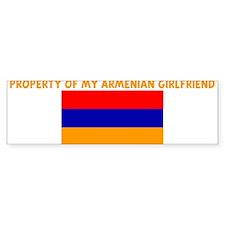 PROPERTY OF MY ARMENIAN GIRLF Bumper Bumper Sticker