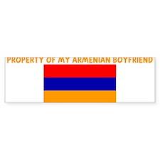 PROPERTY OF MY ARMENIAN BOYFR Bumper Bumper Sticker