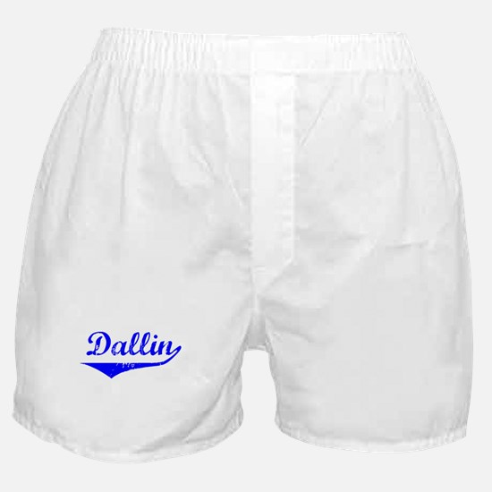 Dallin Vintage (Blue) Boxer Shorts