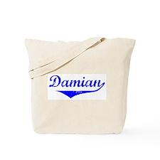 Damian Vintage (Blue) Tote Bag