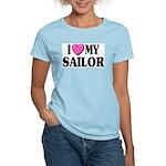 I love ( heart ) my sailor Women's Pink T-Shirt