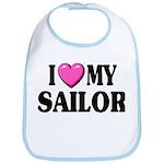 I love ( heart ) my sailor Bib