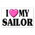 I love ( heart ) my sailor Rectangle Sticker