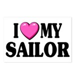 I love ( heart ) my sailor Postcards (Package of 8