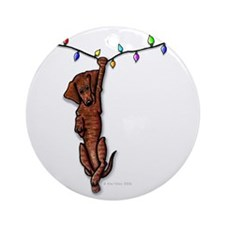 Dangling Doxie IV Ornament (Round)