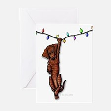 Dangling Doxie IV Greeting Cards (Pk of 20)