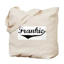 Frankie Vintage (Black) Tote Bag