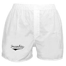 Frankie Vintage (Black) Boxer Shorts